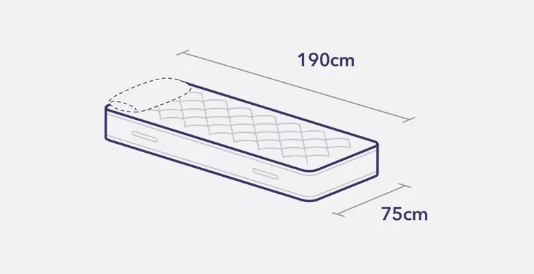Small single bed and mattress measurements